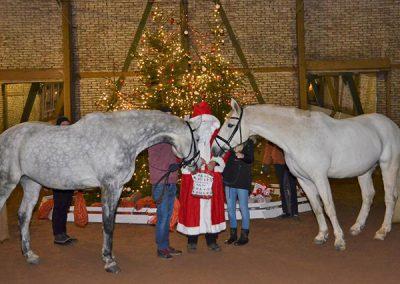 Im RCS kommt der Weihnachtsmann auch zu den (braven) Pferden.
