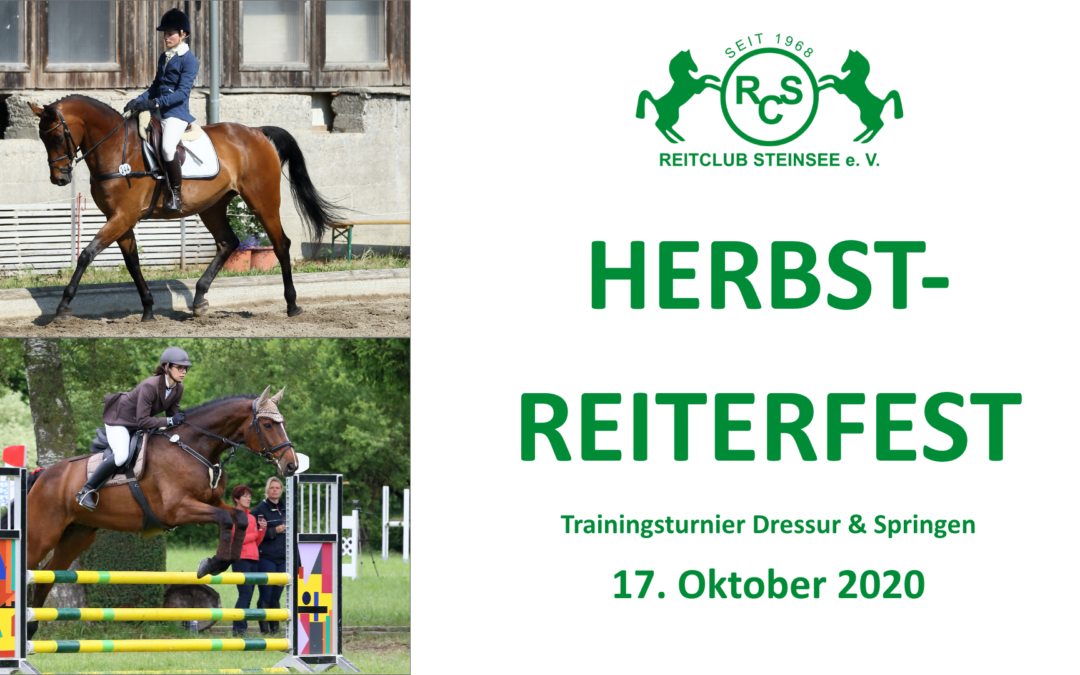 Herbst-Reiterfest am 17. Oktober 2020